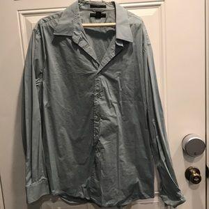 Men's light dusty blue XXL dress shirt